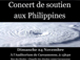 Concert de soutien aux Philippines